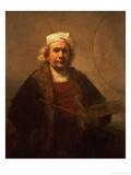 Self Portrait, 1661-62 Giclée-tryk af Rembrandt van Rijn
