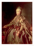 Catherine the Great, 1793 Giclee Print by Johann Baptist Lampi