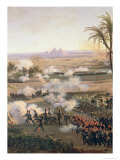 Battle of the Pyramids, 21st July 1798, 1806 Reproduction procédé giclée par Louis Lejeune