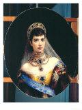 Portrait of Empress Maria Fyodorovna (1847-1928) Dagmar of Denmark Giclee Print by Konstantin Egorovich Makovsky