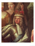 Detail of George I from the Painted Hall, Greenwich Giclee Print by Sir James Thornhill