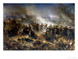 The Gervais Battery at the Siege of Sebastopol, 18th June 1855 Giclee Print by Alphonse Marie de Neuville