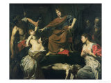 The Judgement of Solomon Gicl&#233;e-Druck von Valentin de Boulogne 
