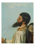 La Rencontre Ou Bonjour M.Courbet Giclee Print by Gustave Courbet