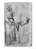 Two Figures Giclee Print by  Michelangelo Buonarroti
