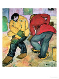 The Floor Polishers, 1911 Giclee Print by Kasimir Malevich