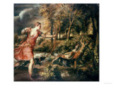 The Death of Actaeon, circa 1565 Giclée-tryk af Titian (Tiziano Vecelli)
