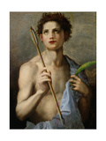 St. Sebastian Holding Two Arrows and the Martyr's Palm Giclee Print by  Andrea del Sarto