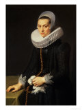 Portrait of a Lady in a Black Dress Giclee Print by Nicolaes Eliasz