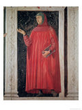 Petrarch (1304-74) from the Villa Carducci Series of Famous Men and Women, circa 1450 Giclee Print by  Andrea del Castagno
