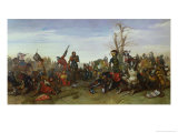 The Battle of Trente in 1350, 1857 Giclee Print by Octave Penguilly l'Haridon