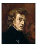 Frederic Chopin (1810-49) 1838 Giclee Print by Eugene Delacroix