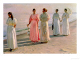 Promenade on the Beach Giclee Print by Michael Peter Ancher