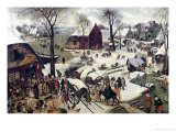 The Census at Bethlehem Gicleetryck av Pieter Bruegel the Elder
