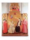 The Annunciation with St. Cosmas and St. Damian, 1409 Giclée-tryk af Taddeo di Bartolo