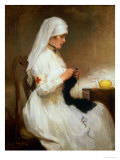 Portrait of a Nurse from the Red Cross Giclee Print by Gabriel Emile Niscolet