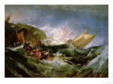 Wreck of a Transport Ship Giclee Print by William Turner