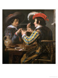 The Card Players Giclee Print by Theodor Rombouts