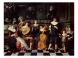 Family Making Music Giclee Print by Jan Miense Molenaer