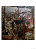 Industry of the Tyne: Iron and Coal, 1861 Premium Giclee Print by William Bell Scott