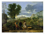 Autumn, or the Bunch of Grapes Taken from the Promised Land, 1660-64 Giclee Print by Nicolas Poussin