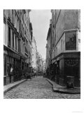 Rue Des Moineaux, from Rue Des Orties, Paris, 1858-78 Giclee Print by Charles Marville