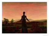 Woman at Dawn Giclee Print by Caspar David Friedrich