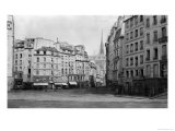 Place Maubert from the Marche Des Carmes, Paris 1858-78 Giclee Print by Charles Marville