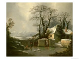 The Frozen Mill Race Giclee Print by George Smith