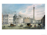 Sackville Street, Dublin, Showing the Post Office and Nelson's Column Giclee Print by Samuel Frederick Brocas