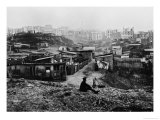 Top of Rue Champlain (View Taken on the Right) Paris, 1858-78 Giclee Print by Charles Marville