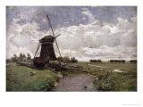 Windmill at Leidschendam Giclee Print by Paul Joseph Constantin Gabriel