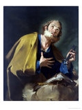 Saint Peter Giclée-tryk af Giovanni Battista Pittoni