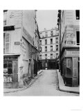 Rue Maitre Albert (From Place Maubert) Paris, 1858-78 Giclee Print by Charles Marville