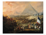 Battle of Pyramids, 21 July 1798  Lámina giclée por Francois Louis Joseph Watteau