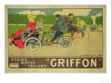 "Poster Advertising ""Griffon Cycles, Motos & Tricars"" Premium Giclee Print by Walter Thor"
