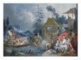The Chinese Fishermen, circa 1742 Giclee Print by Francois Boucher
