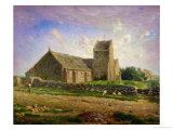 The Church at Greville, circa 1871-74 Giclee Print by Jean-François Millet