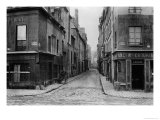 Rue Des Bernardins from Quai De La Tournelle, Paris Between 1858-78 Giclee Print by Charles Marville