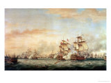 Battle of the Saints, 1782 Giclee Print by Thomas Whitcombe
