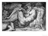 Leda, Engraved by Jacobus Bos, Boss or Bossius (Born circa 1520) Premium Giclee Print by  Michelangelo Buonarroti