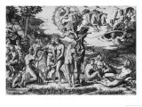 The Judgement of Paris Premium Giclee Print by Marcantonio Raimondi