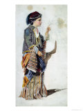 Figure of a Girl in Turkish Costume Reproduction proc&#233;d&#233; gicl&#233;e par John Absolon
