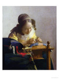 The Lacemaker, 1669-70 Premium Giclee Print by Jan Vermeer