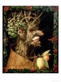 Winter, 1573 Impression giclée par Giuseppe Arcimboldo