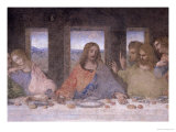 The Last Supper, 1495-97 (Post Restoration) Impressão giclée por  Leonardo da Vinci