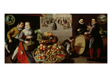 Fruit Market Giclee Print by Lucas van Valckenborch