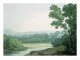 Near Washfield, Devon Premium Giclee Print by John White Abbott