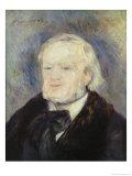 Portrait of Richard Wagner (1813-83) 1882 Giclée-tryk af Pierre-Auguste Renoir