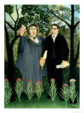 The Muse Inspiring the Poet, 1908-09 Giclee Print by Henri Rousseau